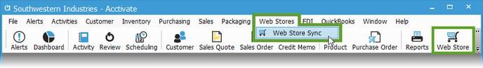 Web-Store-Menu