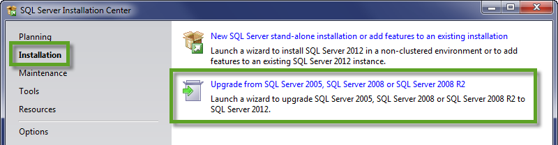 SQLInstallationUpgrade
